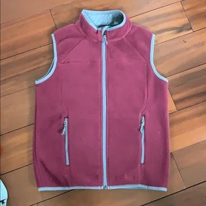 Boys LL Bean fleece vest size M 10-12